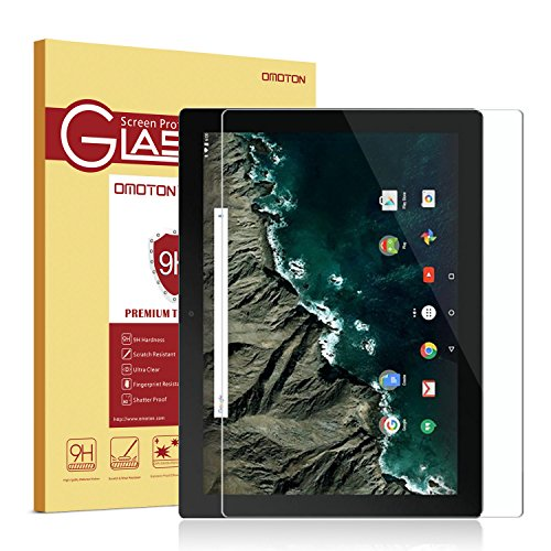 Google Pixel C Screen Protector [0.26 mm Tempered Glass], OMOTON Glass Screen Protector for Google Pixel C 10.2