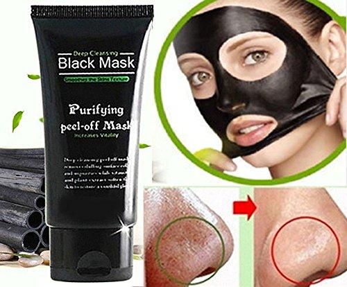 Blackhead Remover Facial Masks Deep Cleansing Purifying Peel Off Black Mask ~ Mascara Negra de Cara Crema Para Purificar Piel y Remover Espinillas Facial