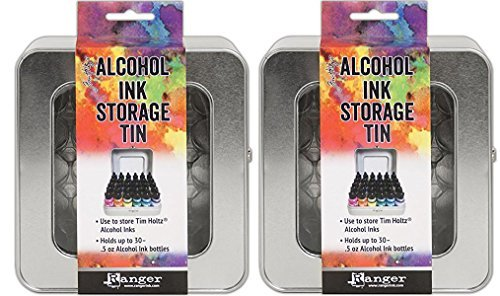 Tim Holtz Alcohol Ink Storage Tins - Pack of Two Tins by Tim Holtz
