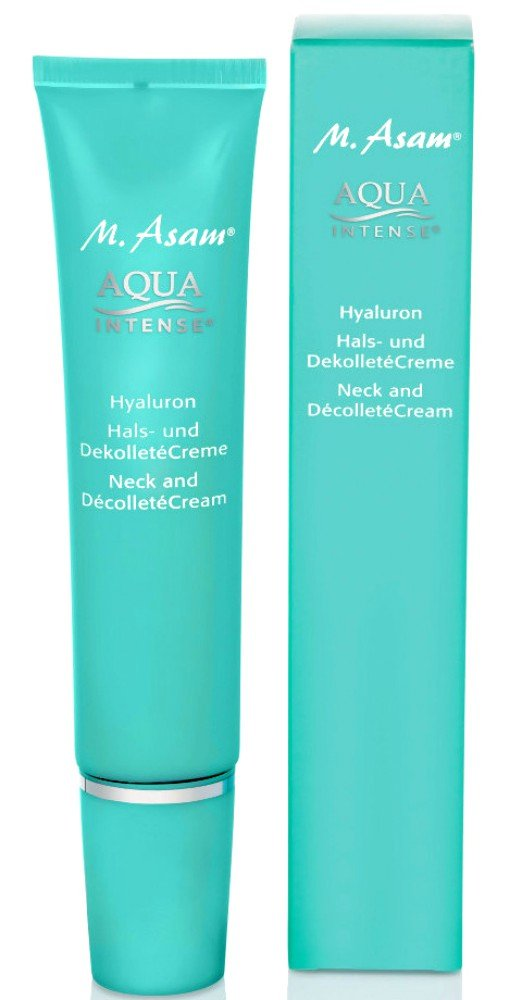 M. ASAM Aqua Intense Hyaluron Neck and Decollete Cream 75ml./2.54oz.(Boxed)