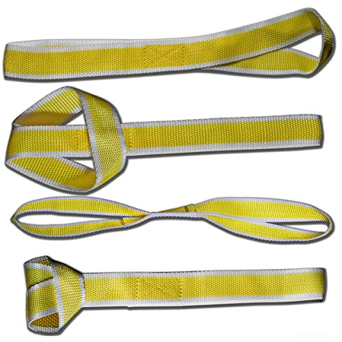 OxGord-LTDS-YW-American-Eagle-Soft-Loop-Tie-Down-Straps-4-Pack-4-800lb-For-Towing-ATV-UTV-Motorcycle