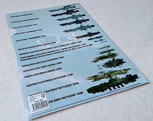 22021章 嚆矢篇 クリアファイル艦隊比較表宇宙戦艦ヤマト2202愛の戦士たち1章嚆矢篇 宇宙戦艦ヤマト2199 古代進 森雪