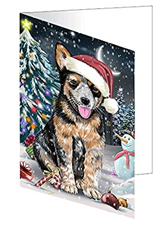 Amazon have a holly jolly christmas happy holidays australian have a holly jolly christmas happy holidays australian cattle dog greeting card gcd2205 10 m4hsunfo