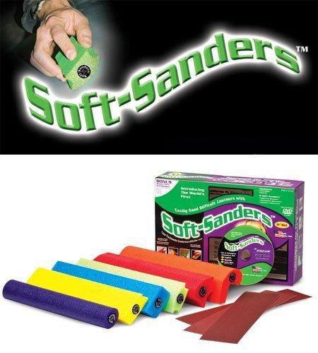 11'' Soft Sanders Wet Dry Hand Sanding Block Kit 6-Pack by Style Line