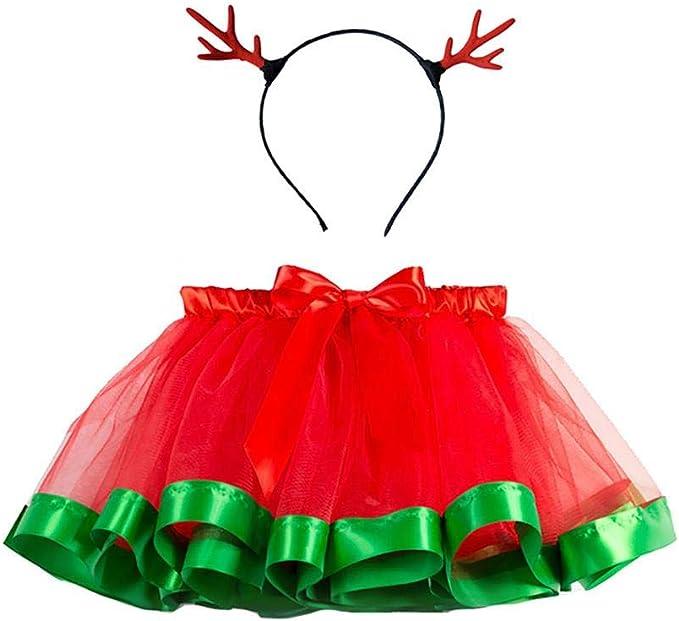 CyFe 1 Pieza Faldas para bebé niña, Falda de tutú de Navidad ...