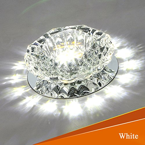 Jiuzhuo Clear Crystal Recessed 3W LED 1-Light Spotlight Flush Mount Ceiling Light - Crystal Spotlight
