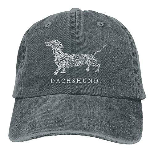 Mens/Womens Dachshund Doxen Weiner Word Cotton Denim Adjustable Baseball Cap from Daqinghjxg