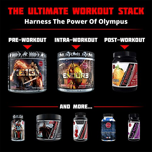 ENDUR3 Intra Workout BCAA Supplement | 4:1:1 Ratio of Trademarked Amino Acid Blend at Clinical Dosage | Best Drink for Endurance & Recovery | 30 Servings (Unicorns Blood) by Olympus Labs (Image #6)