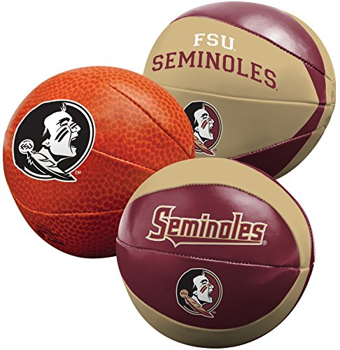 NCAA Florida State Seminoles Three Ball Softee Basketball Set, 4