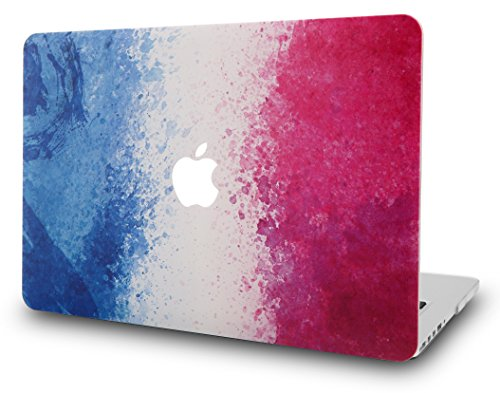 KEC MacBook Air 13 Inch Case Plastic Hard Shell Cover Protective A1369 / A1466 (French Flag) (Flag Plastic Hard Case)