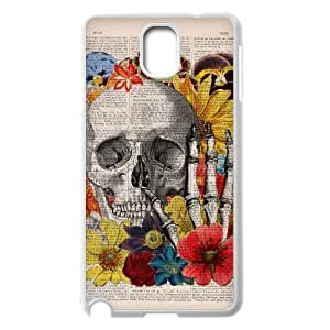 Diy Colorful Sugar Skull Phone Case for samsung galaxy note 3 White Shell Phone JFLIFE(TM) [Pattern-2]