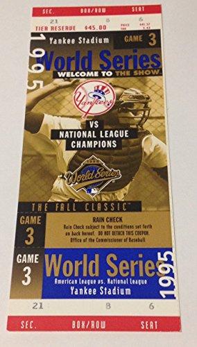 Yankee Game Ticket (1995 NY Yankees Phantom Game 3 World Series Full Ticket)