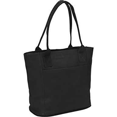 Amazon.com | Piel Leather Small Tote Bag, Black, One Size | Travel ...