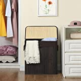 SONGMICS Double Laundry Hamper with Lid, Divided