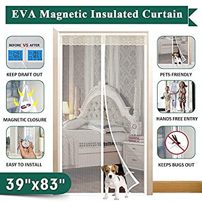 """IKSTAR Magnetic Thermal Insulated Door Curtain, Size 36""""x83"""" 39""""x83"""""""