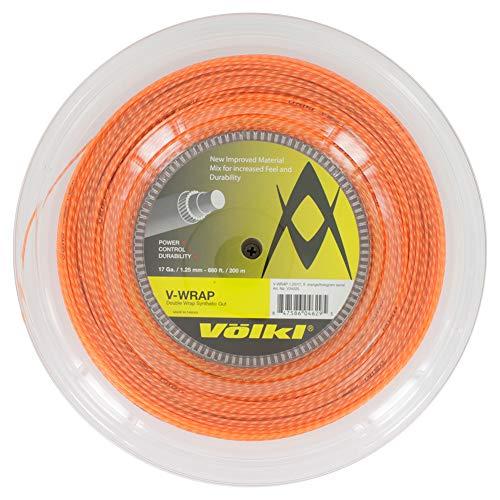 (Volkl-V-Wrap 17G Tennis String Reel Orange Spiral-(847586046295))