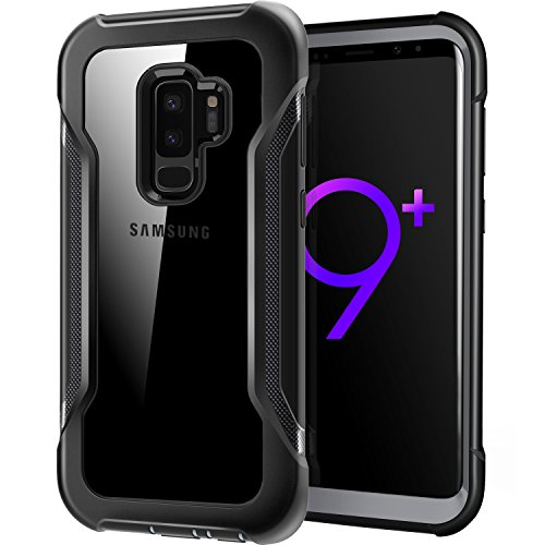 Galaxy S9 Plus case, Wrestler X-Defender Series Shockproof Anti-Scratch Protective Case with Carbon Fiber Pattern for Samsung Galaxy S9 Plus (2018), Black