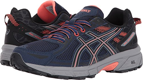 ASICS Women's Gel-Venture 6 Running-Shoes,Indigo Blue/Black/Coral,7.5 Medium US