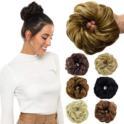 ROSEBUD Hair Bun Extensions Messy Synthetic Chignon, used for sale  Delivered anywhere in USA