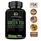 Green Tea Extract for Effective Weight Loss - Boost Metabolism & Promote a Healthy Heart - Advanced Fat Burner Caffeine for Energy - Antioxidant & Free Radical Scavenger - GMP Certified- 60 Capsules