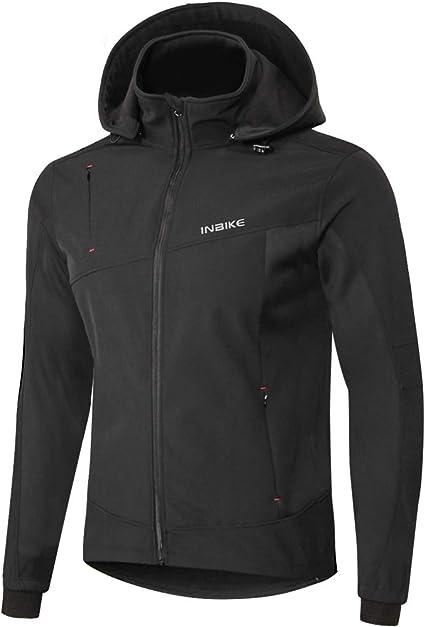 BeIM Air Jacket Veste de Cyclisme imperm/éable en Polaire Chaude pour Homme Automne et Hiver Taille M-2XL