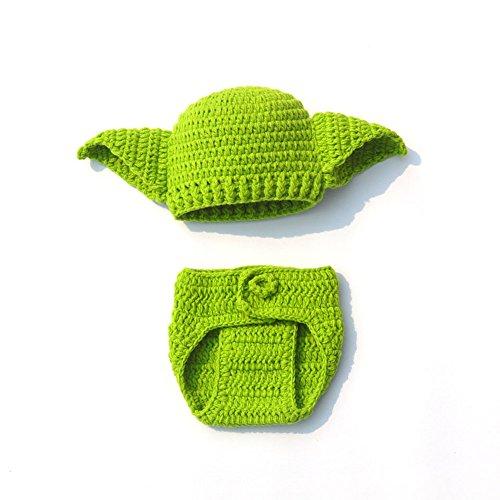 Newborn Alien Costumes - Newborn Little Alien E.T. Handmade Crochet