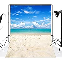 LB 5x7ft The Sea & Beach Poly Fabric Photo Backdrops Customized Studio Background Studio Props MG176