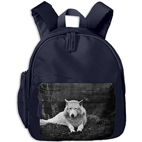 Kids Toddler Wolf Pre School Schoolbag Shoulder Bags (Halloween Wolf Coloring Pages)