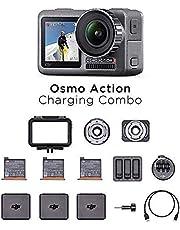 DJI Osmo Action Charging Combo - Digitale Camera met Toebehorenkit Inbegrepen, 2 Schermen, Waterdicht tot en met 11 m, Geïntegreerde Stabilisering, Foto en Video in 4K HDR ij 100 Mbit/s - Zwart