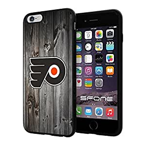 "Philadelphia Flyers Black Wood #1639 iPhone 6 Plus (5.5"") I6+ Case Protection Scratch Proof Soft Case Cover Protector"