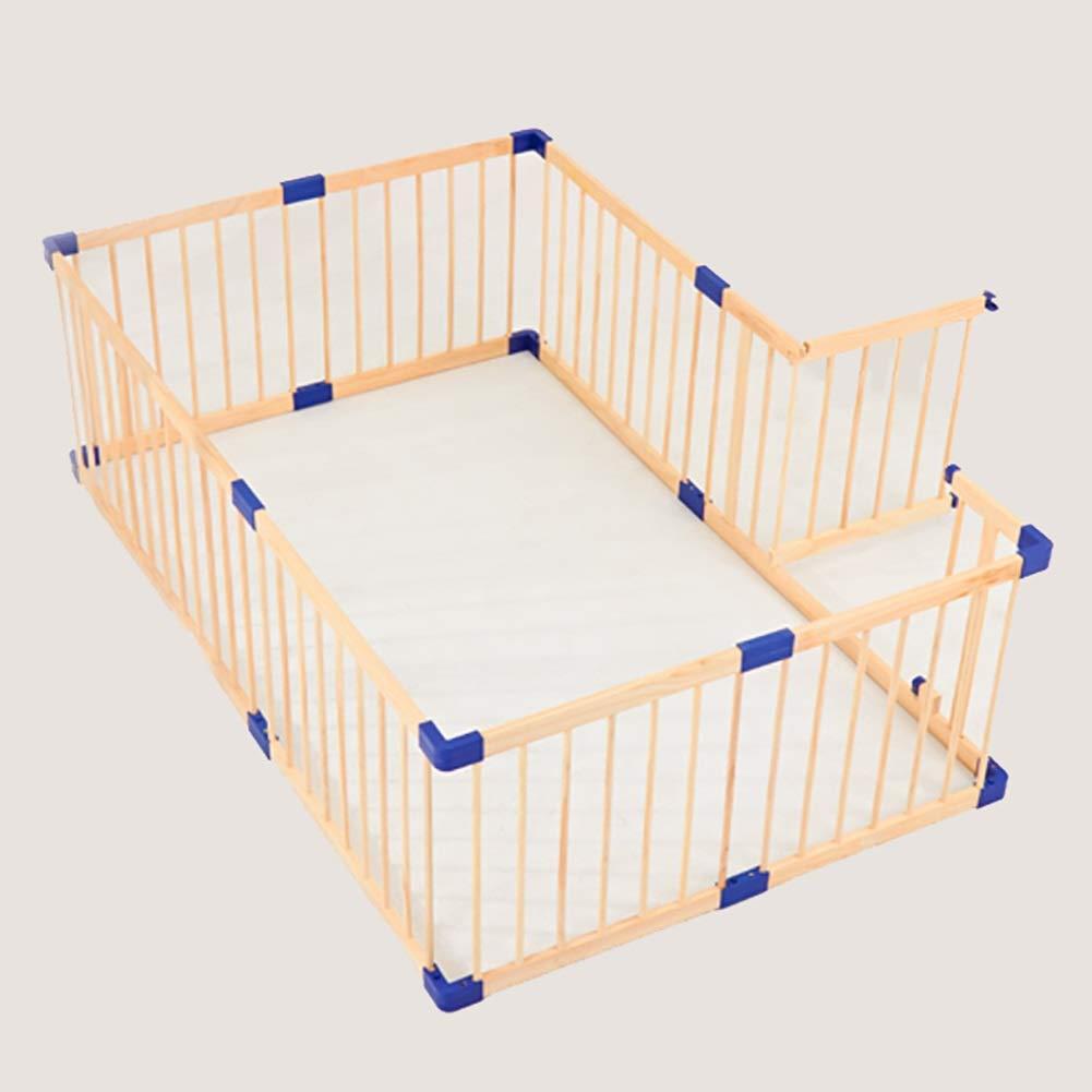 幼児の幼児の子供のための赤ん坊のベビーサークルの安全アンチロールオーバー選手、ゲートが付いている支えがない木製の塀、4つのサイズ (Size : 47'' x 75'') 47'' x 75''  B07TDZ5BYV