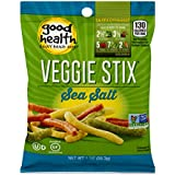 Good Health certified Gluten Free and Non GMO verifed Veggie Stix, Sea Salt 1 oz. Bags (Pack Of 24)