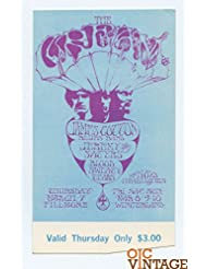 Bill Graham 110 Ticket The Cream Blood Sweat and Tears 1968 Mar 7
