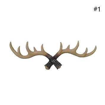 taloyer resina ciervo cuernos sombrero bolsa perchero de ...