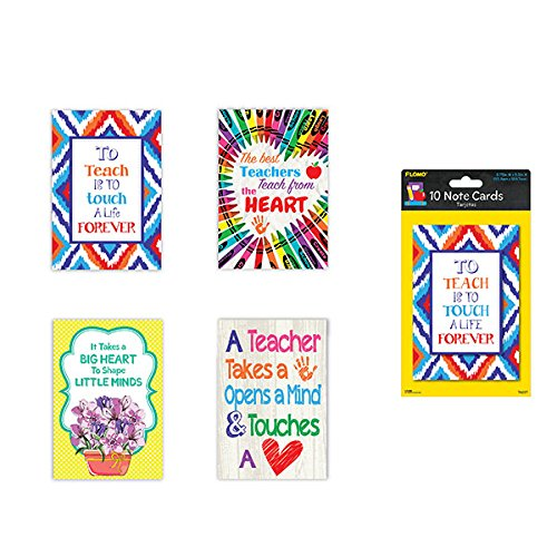End Gift Card - FLOMO Teacher Appreciation Thank You Cards (10 Pack) Gifts for Teachers