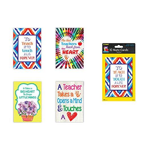 FLOMO Teacher Appreciation Thank You Cards (10 Pack) Gifts for Teachers