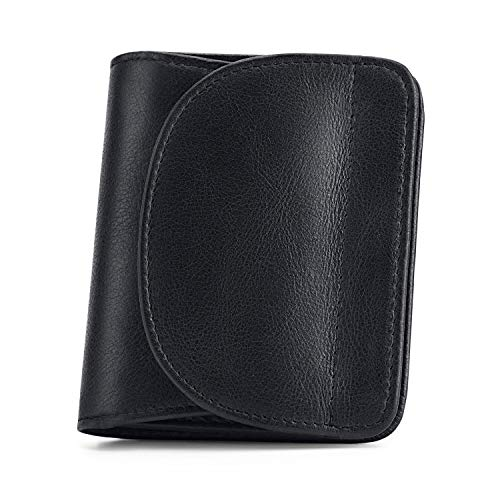 Kattee RFID Leather Bifold Wallet Coin Card Holder Small Purse for Women(Black)
