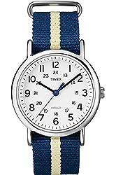 Timex Weekender Slip-Thru Stripled Nylon Strap Unisex Watch T2P142