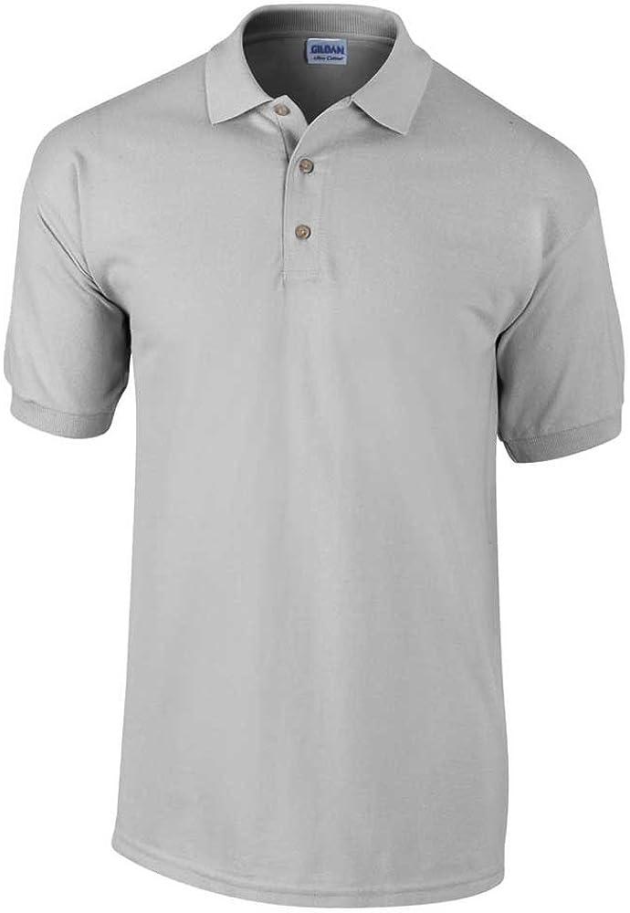 Gildan Mens Heavyweight 100 Short Sleeve Ultra Cotton Polo Shirt ...