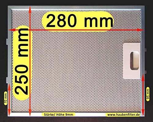 Filtro metálico de grasa 280 x 250 Gaggenau y otros.: Amazon.es: Hogar