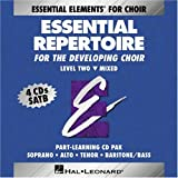 Essential Repertoire for the Developing Choir (Level Two: Mixed) Part-Learning CD-Pak (Soprano, Alto, Tenor, Baritone/Bass)