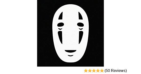 cars, laptops, windows WHITE Stick/'emAll Vinyl Decals No face Spirited Away Car Decal Sticker