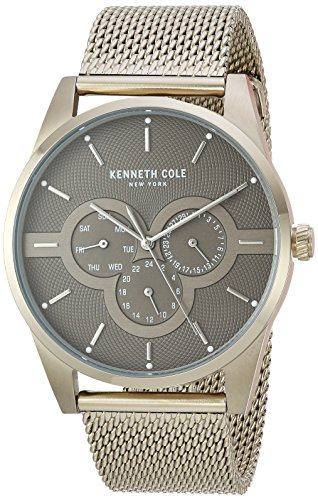Kenneth Cole New York Men's Quartz Stainless Steel Casual Watch, Color:Gold-Toned (Model: KC15205002)