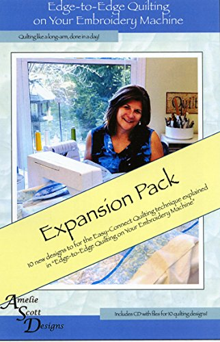 Edge to Edge Quilting On Your Embrodiery Machine Expanded Pack of Different Designs