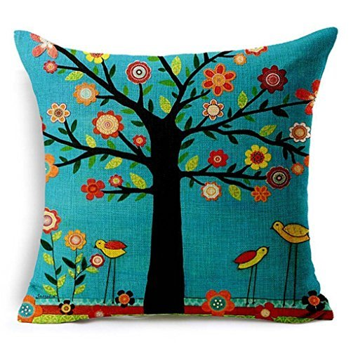 lend Linen Square Decorative Throw Pillow Covers - Indoors or Outdoors Cushion Cases, 18