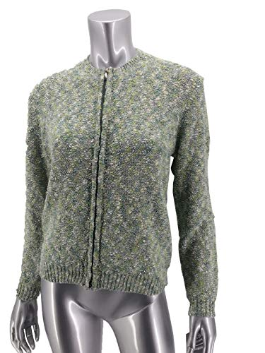 Alfred Dunner Winter Garden Petite Zippered Melange Cardigan PM