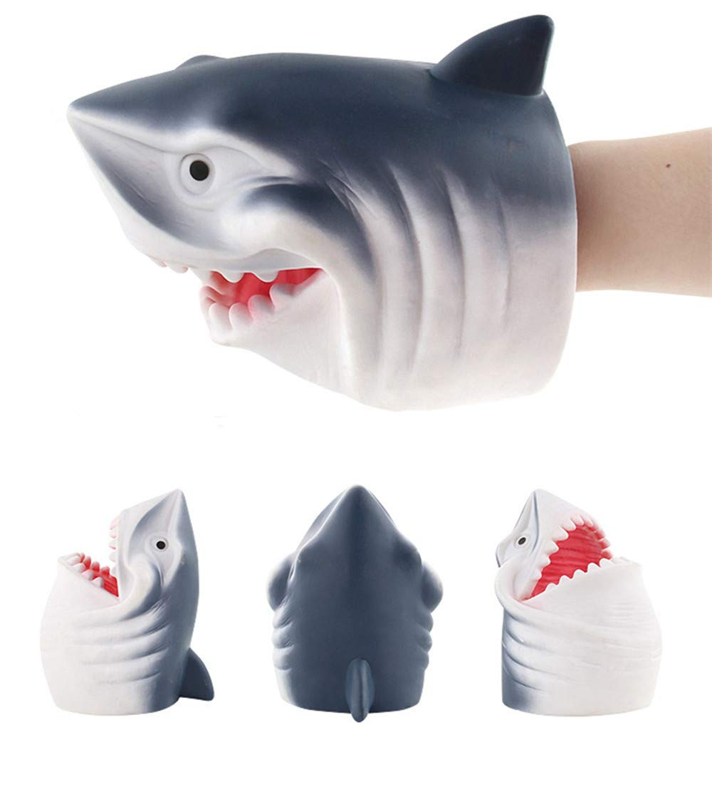 callm Hand Puppets,Hand Puppets Role Play Realistic Gloves Soft Toy (Shark 2)