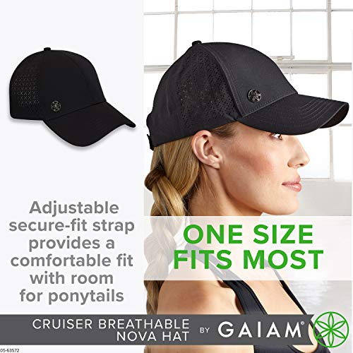 Gaiam Running Hat for Women & Men - Breathable Trucker Style Ball Cap, Pre-Shaped Bill, Adjustable Size (Outdoors, Baseball, Sun, Hiking, Yoga, Golf, Tennis, Sports & Fitness) - Multiple Colors