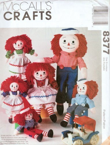 Raggedy Ann & Andy Doll Patterns - McCall's 8377, 5499, 2447, 846 or 713 Makes 10