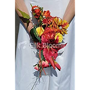 Gorgeous, Tropical Shower of Lilies, Gloriosa, Roses and Mimosa 8